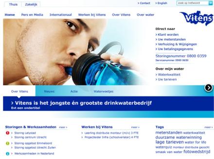 Vitens website